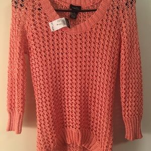 SM coral sweater with silver accents NBW